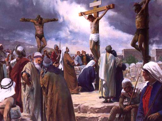 Crucified between 2 thieves