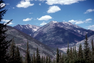The mountain town of Silverton, Colorado, is in the lower-right of this picture.